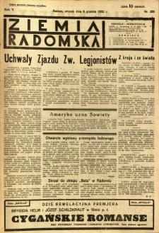 Ziemia Radomska, 1932, R. 5, nr 280