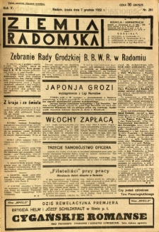 Ziemia Radomska, 1932, R. 5, nr 281