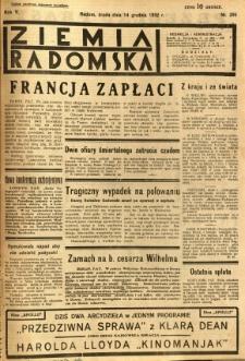 Ziemia Radomska, 1932, R. 5, nr 286