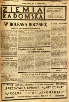 Ziemia Radomska, 1932, R. 5, nr 289