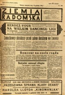 Ziemia Radomska, 1932, R. 5, nr 290