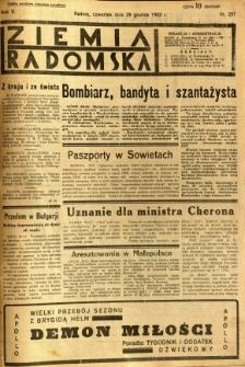 Ziemia Radomska, 1932, R. 5, nr 297