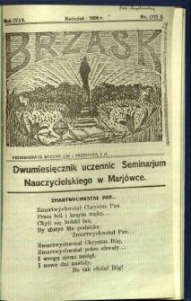 Brzask: Dwumiesięcznik uczennic Seminarium Nauczycielskiego w Mariówce, 1928, R. (5) 1, nr (17) 1