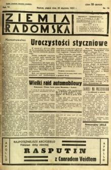 Ziemia Radomska, 1933, R. 6, nr 16