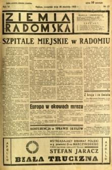 Ziemia Radomska, 1933, R. 6, nr 21