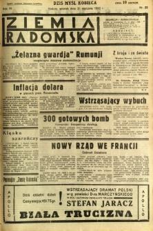 Ziemia Radomska, 1933, R. 6, nr 25