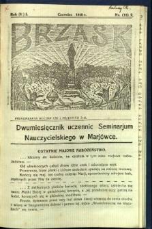 Brzask: Dwumiesięcznik uczennic Seminarium Nauczycielskiego w Mariówce, 1928, R. (5) 1, nr (18) 2