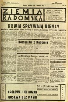 Ziemia Radomska, 1933, R. 6, nr 28