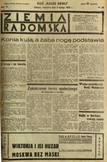 Ziemia Radomska, 1933, R. 6, nr 29