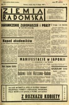 Ziemia Radomska, 1933, R. 6, nr 31