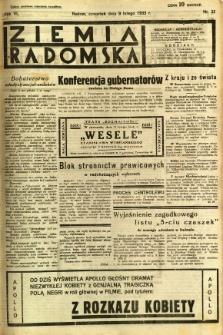 Ziemia Radomska, 1933, R. 6, nr 32