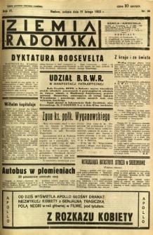 Ziemia Radomska, 1933, R. 6, nr 34