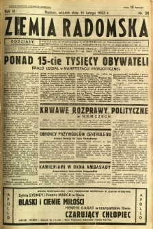 Ziemia Radomska, 1933, R. 6, nr 36