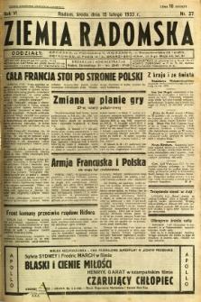 Ziemia Radomska, 1933, R. 6, nr 37
