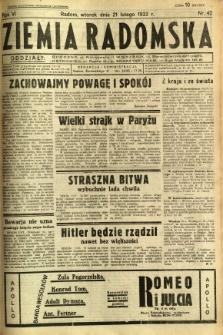 Ziemia Radomska, 1933, R. 6, nr 42