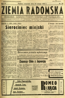 Ziemia Radomska, 1933, R. 6, nr 44
