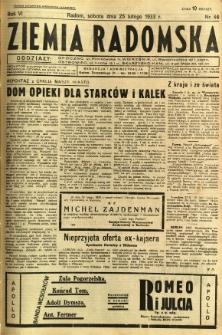 Ziemia Radomska, 1933, R. 6, nr 46