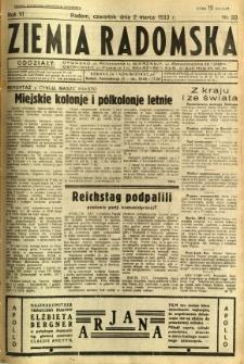 Ziemia Radomska, 1933, R. 6, nr 50