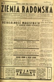 Ziemia Radomska, 1933, R. 6, nr 51