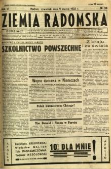 Ziemia Radomska, 1933, R. 6, nr 56