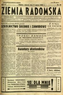 Ziemia Radomska, 1933, R. 6, nr 58