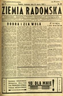Ziemia Radomska, 1933, R. 6, nr 59