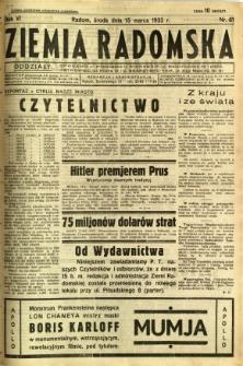 Ziemia Radomska, 1933, R. 6, nr 61