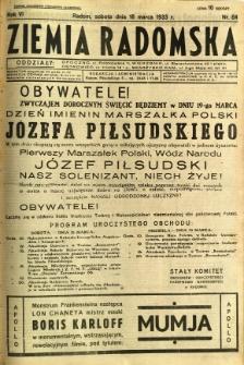 Ziemia Radomska, 1933, R. 6, nr 64