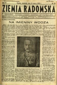 Ziemia Radomska, 1933, R. 6, nr 65