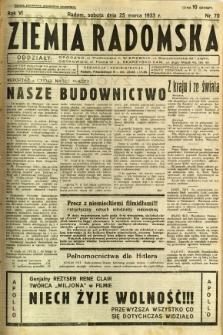 Ziemia Radomska, 1933, R. 6, nr 70