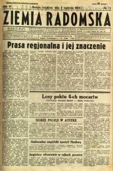 Ziemia Radomska, 1933, R. 6, nr 77