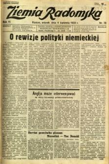 Ziemia Radomska, 1933, R. 6, nr 78