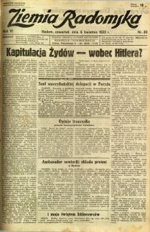 Ziemia Radomska, 1933, R. 6, nr 80