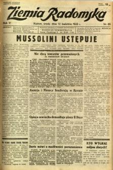 Ziemia Radomska, 1933, R. 6, nr 85