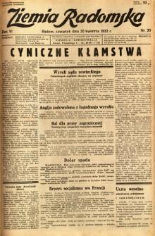 Ziemia Radomska, 1933, R. 6, nr 90