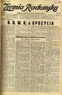 Ziemia Radomska, 1933, R. 6, nr 93