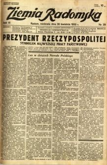 Ziemia Radomska, 1933, R. 6, nr 99