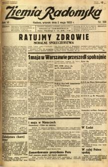 Ziemia Radomska, 1933, R. 6, nr 100