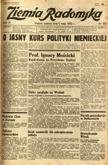 Ziemia Radomska, 1933, R. 6, nr 103