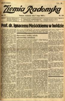Ziemia Radomska, 1933, R. 6, nr 104
