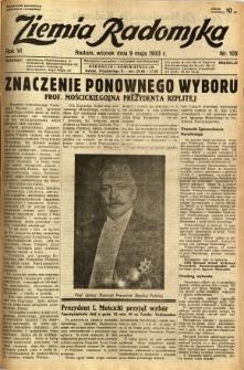 Ziemia Radomska, 1933, R. 6, nr 105