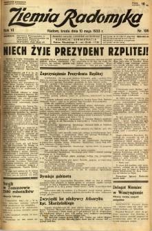 Ziemia Radomska, 1933, R. 6, nr 106