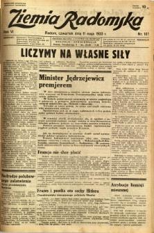 Ziemia Radomska, 1933, R. 6, nr 107