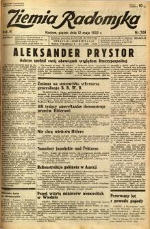 Ziemia Radomska, 1933, R. 6, nr 108