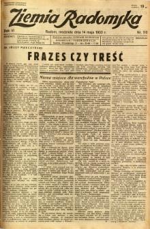 Ziemia Radomska, 1933, R. 6, nr 110