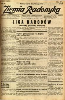 Ziemia Radomska, 1933, R. 6, nr 111