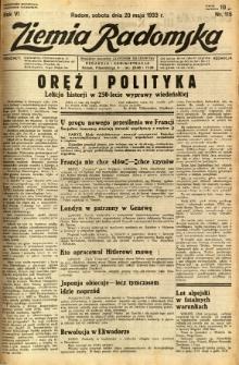 Ziemia Radomska, 1933, R. 6, nr 115