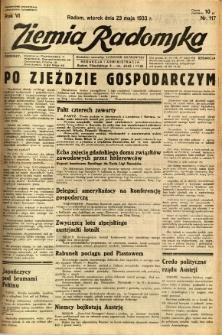 Ziemia Radomska, 1933, R. 6, nr 117