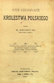 Rys geografii Królestwa Polskiego