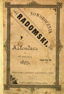 Noworocznik radomski : kalendarz na rok zwyczajny 1893